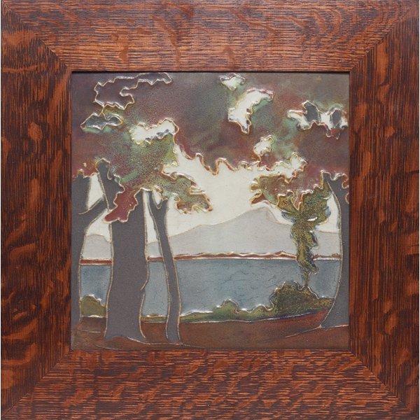 1521: Rookwood Faience tile, landscape