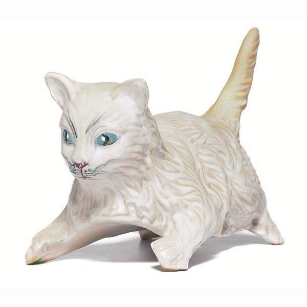 1992: Weller garden ornament, playful white cat