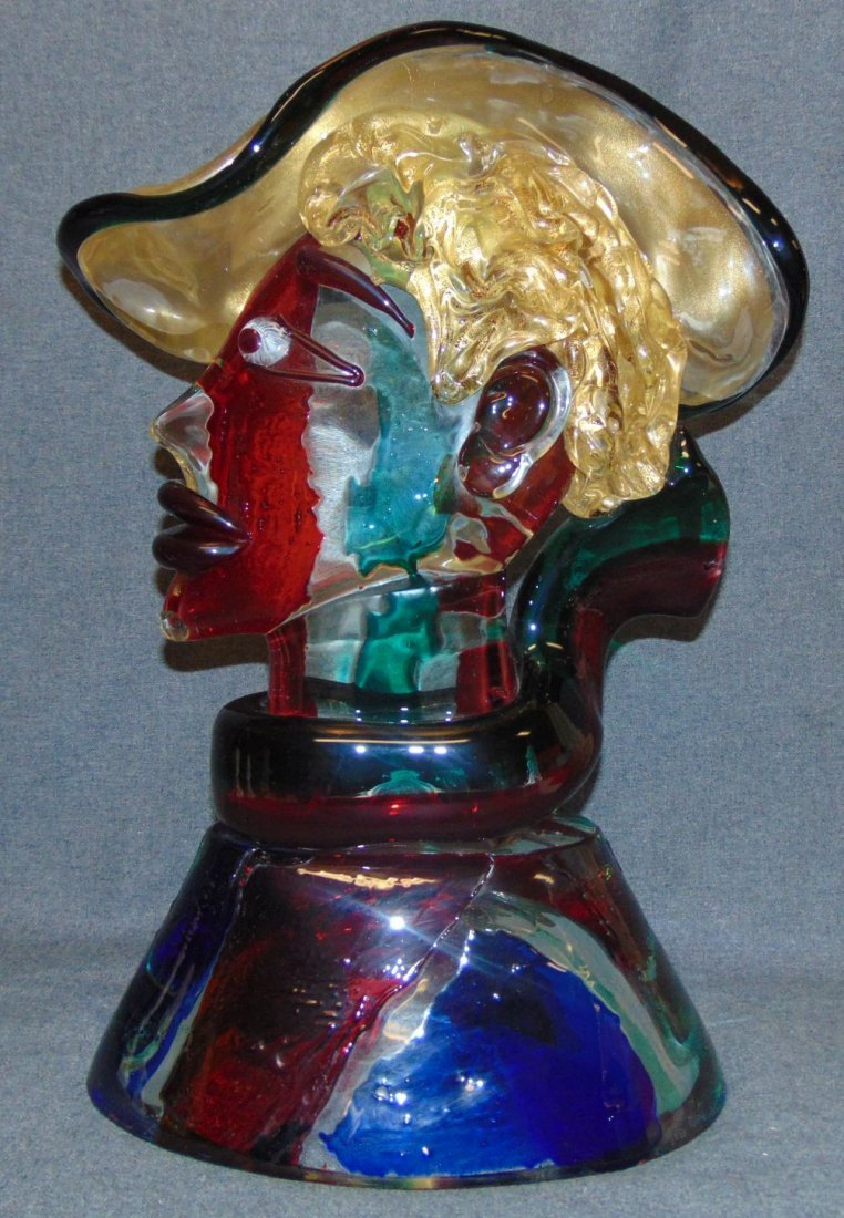 Vintage Murano Glass Bust by Stefano Toso