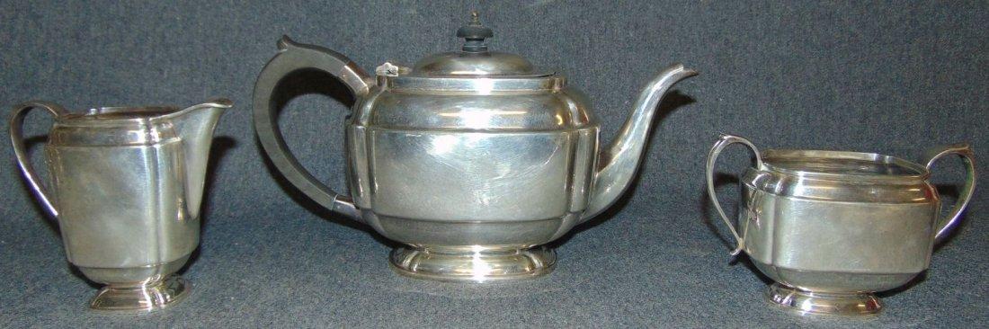 Sterling 3 Piece Tea Set by S. Blanckensee & Sons Ltd