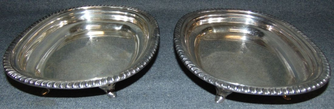 Pair (2) of Silver Plated Serving Dishes by LBS Co.