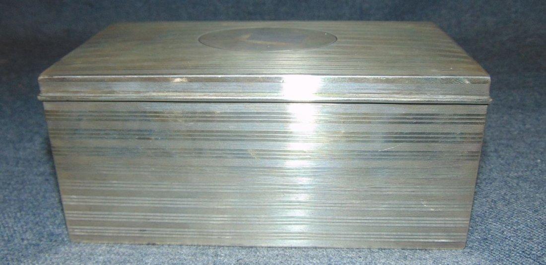 Vintage Sterling Silver Humidor