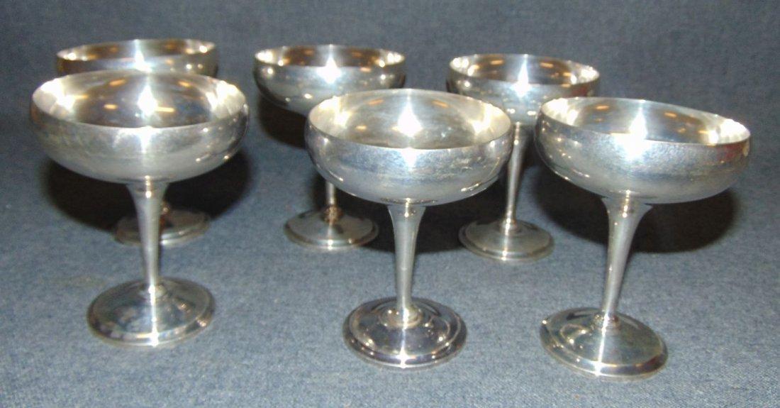 Set of 6 Vintage Sterling Silver Desserts