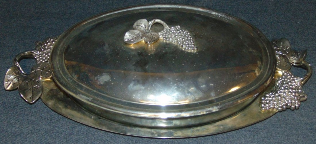 Godinger 3 piece Silver Plated Casserole