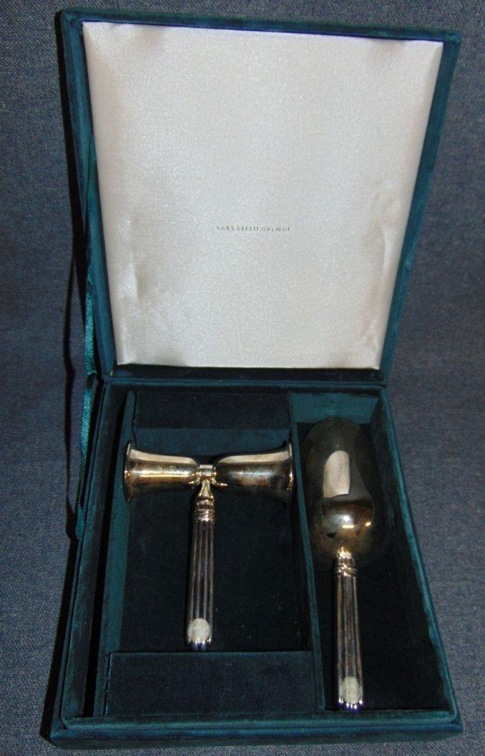Godinger 2 piece Silver Plated Bar Set