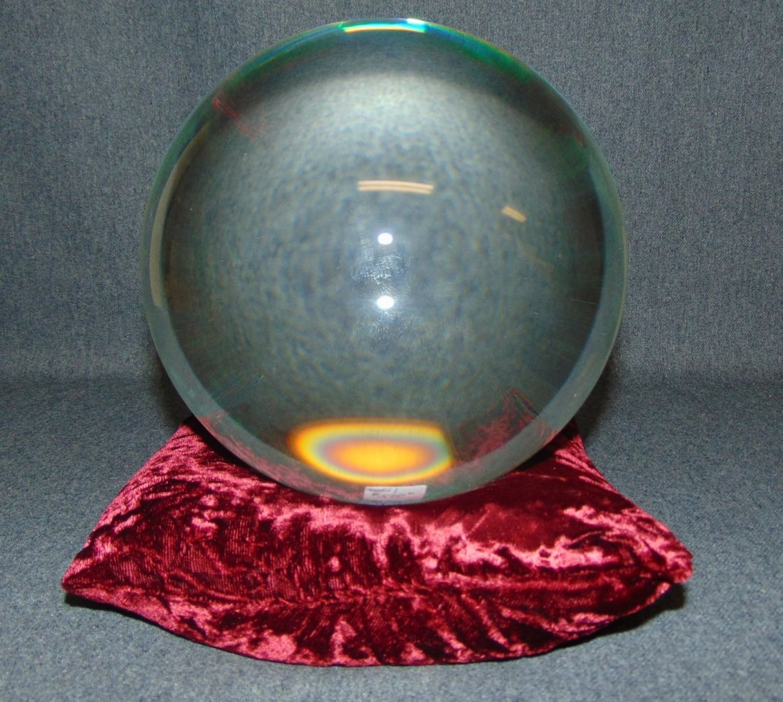 200mm Clear Crystal Ball on Pillow