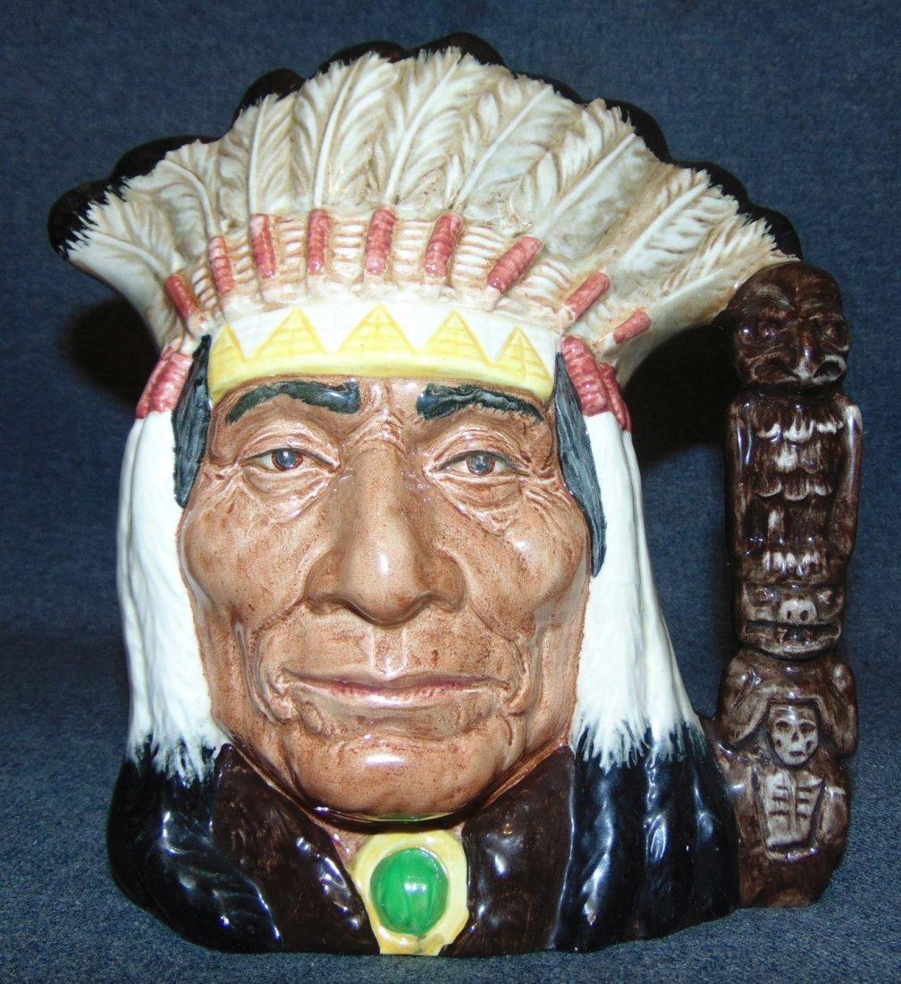 Large Royal Doulton Toby Mug North American Indian