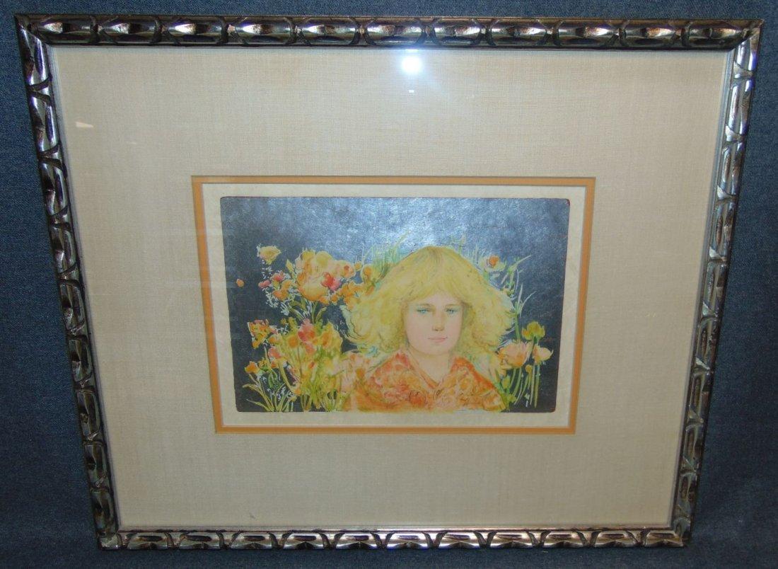 Edna Hibel (1917-2014) Lithograph Signed