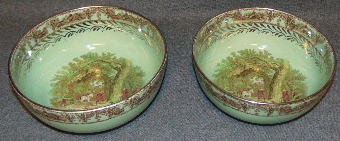 2 Antique Royal Staffordshire Rural Scenes Bowls