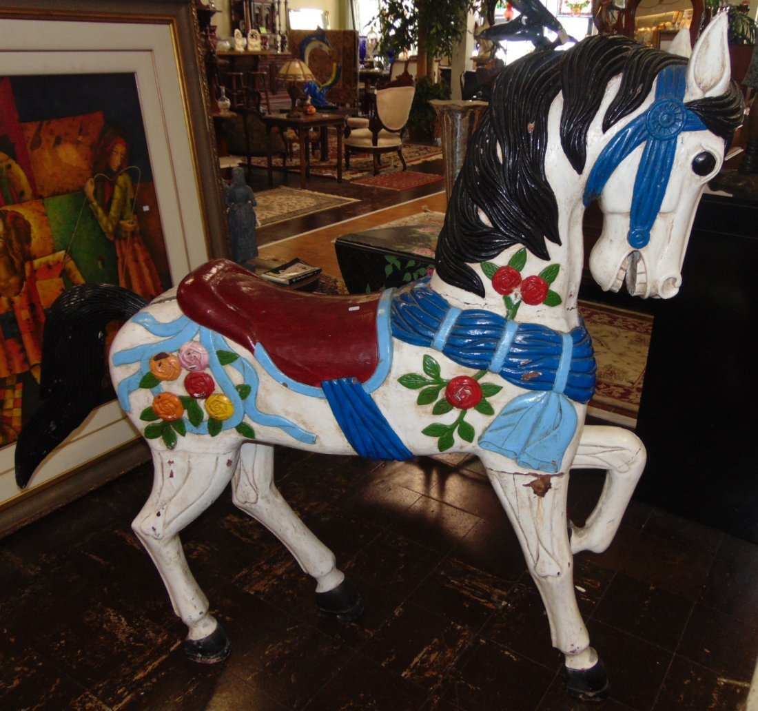 Antique Carousel Horse by Marcus Illions (1871- 1949)