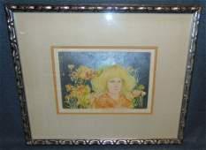 Edna Hibel 19172014 Signed Lithograph