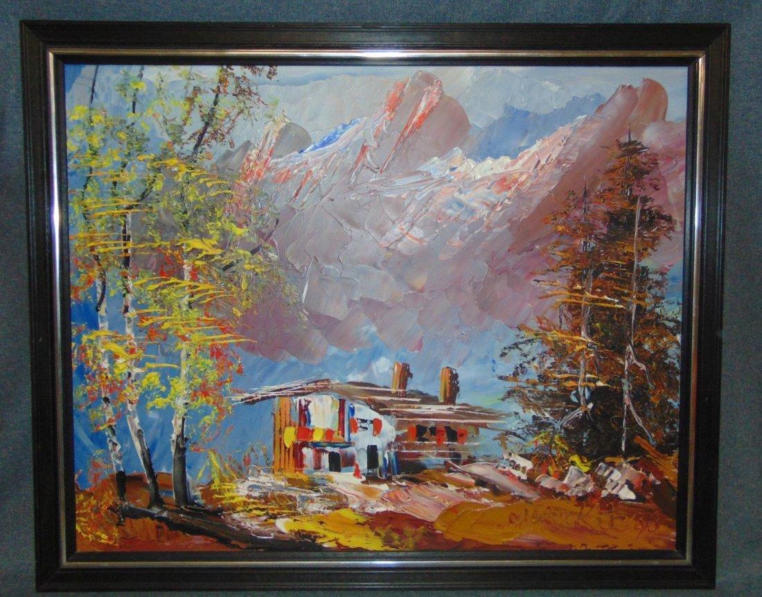 Original Oil Painting by Morris Katz