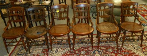 Set Of 4 Antique Mahogany Cane Bottom Dining Chairs Dec 16 2017 Carousel Gallery In Fl