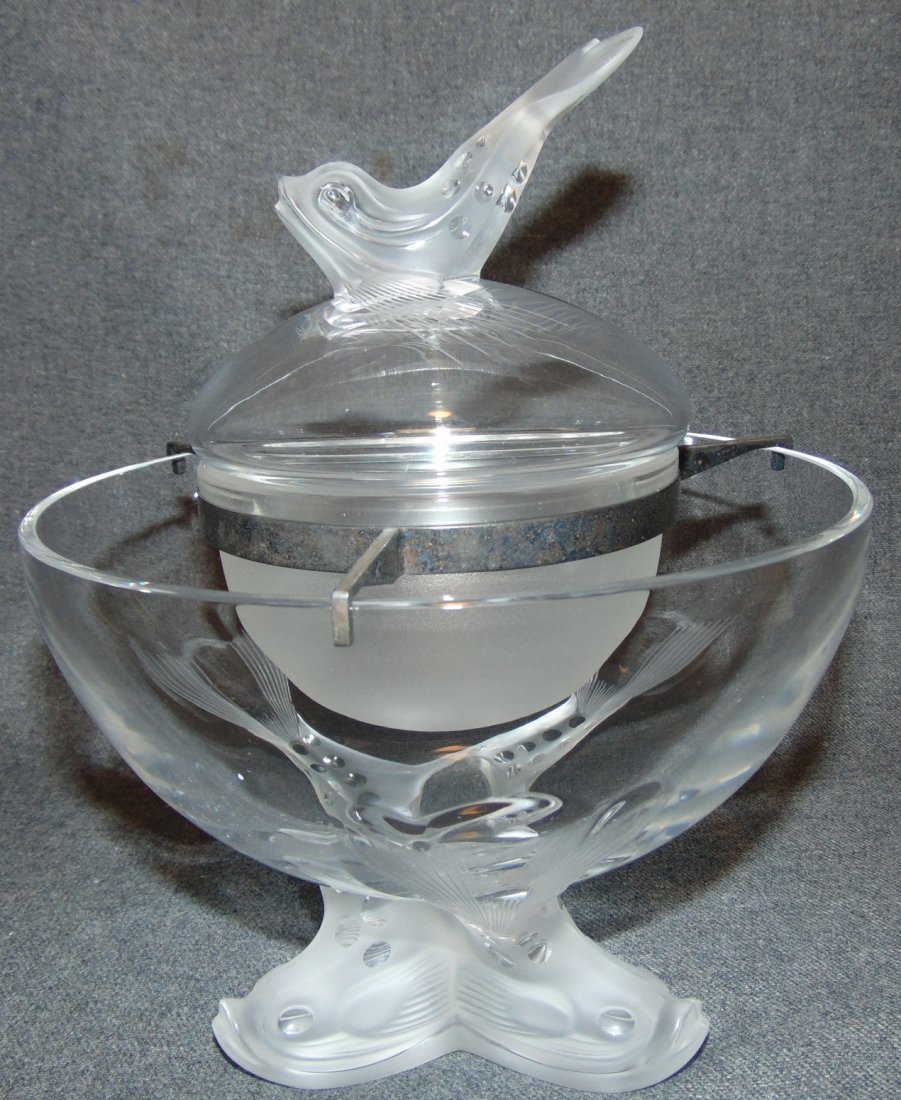 Lalique French Crystal Igor Caviar Bowl
