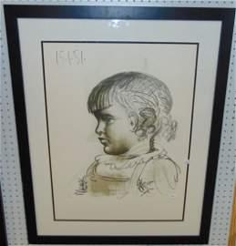 """Pablo Picasso """"Portrait d'Enfant"""" LE Lithograph"""