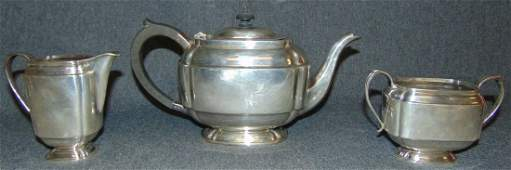 Sterling Silver 3 Pc. Tea Set by S. Blanckensee & Sons