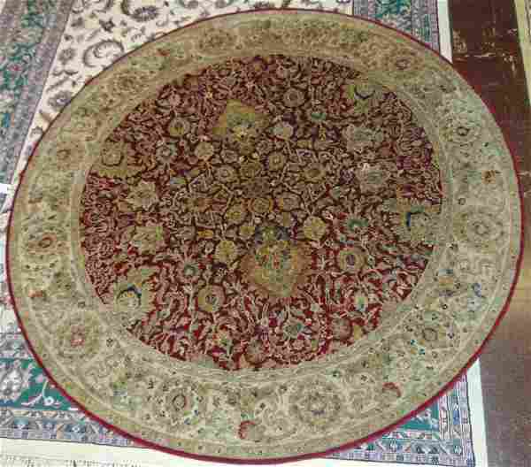 Hand Made Indo-Persian Round Rug 8 feet