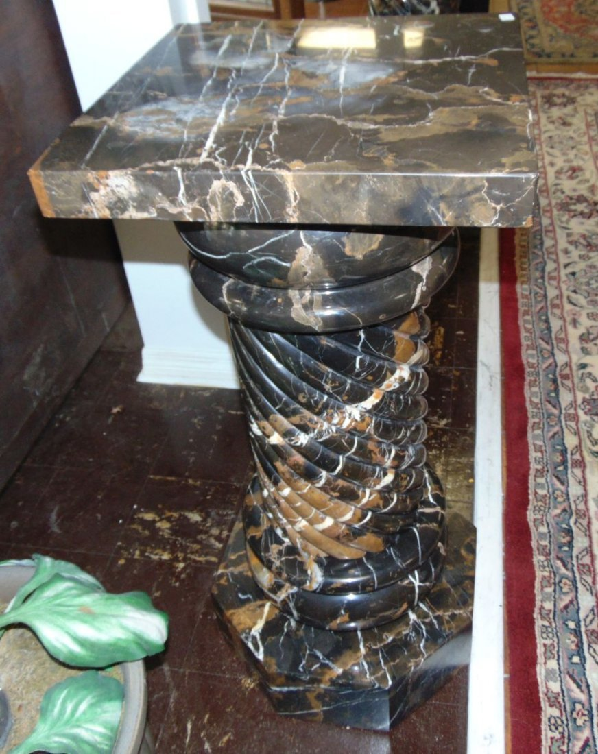 Pair (2) of Carved Marble Pedestals - 8