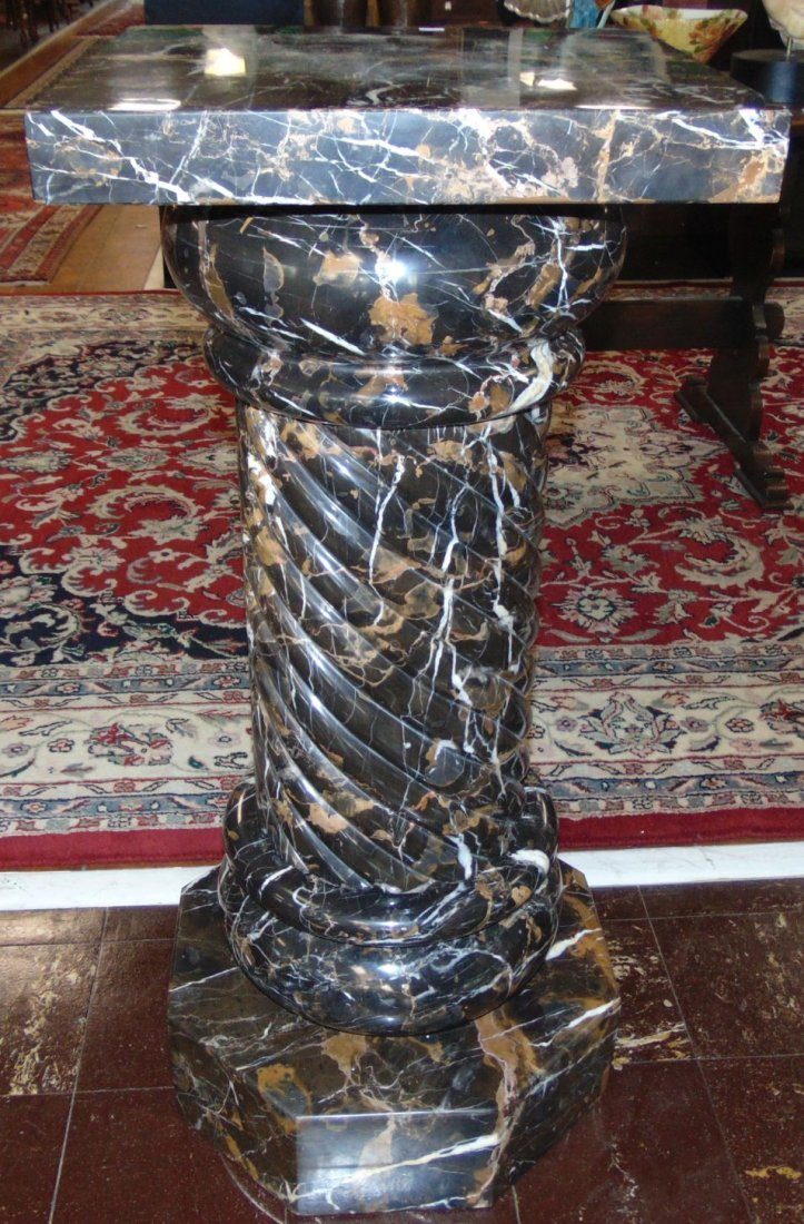 Pair (2) of Carved Marble Pedestals - 9