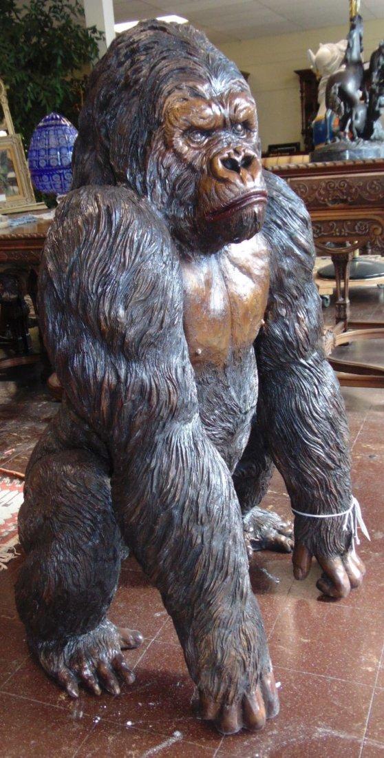 Fabulous Life Size Bronze Gorilla Sculpture - 2