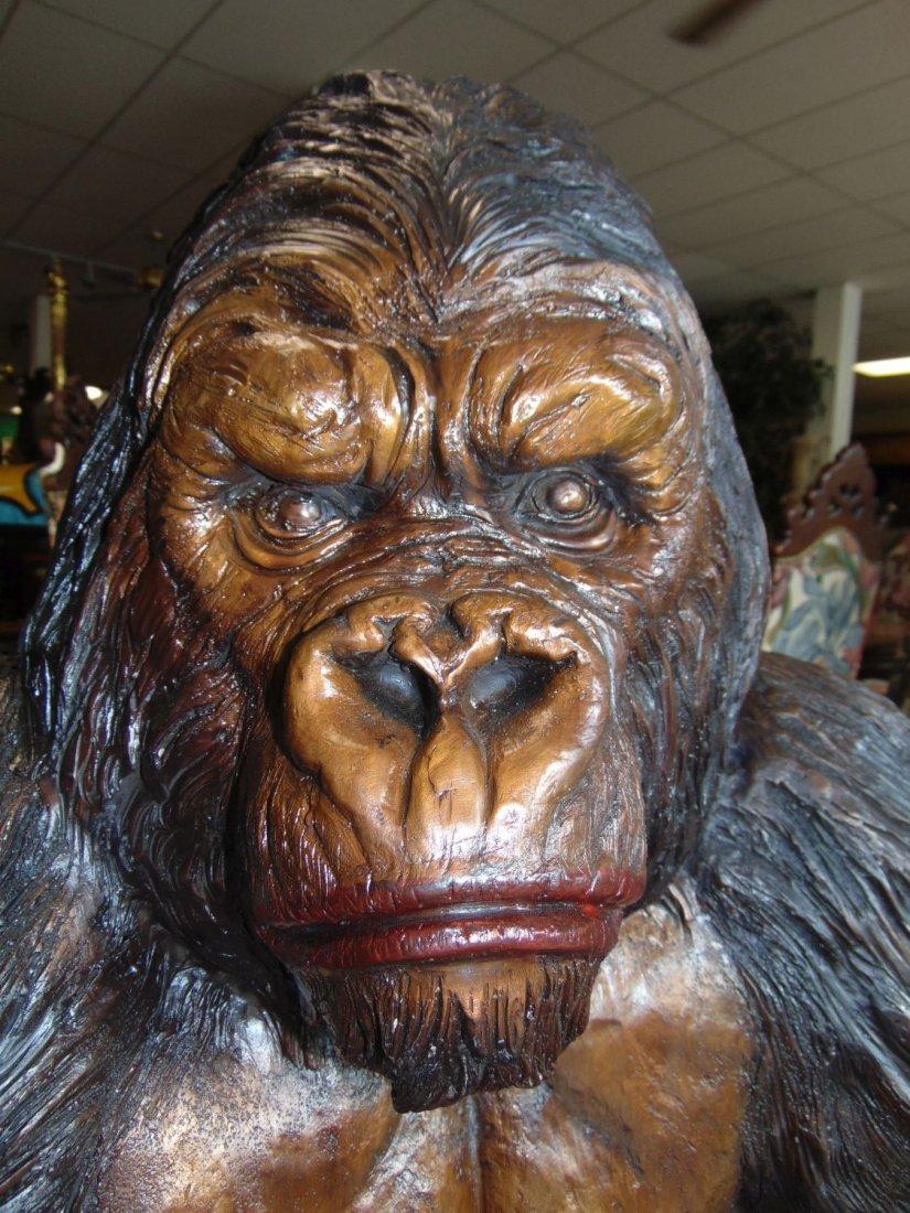 Fabulous Life Size Bronze Gorilla Sculpture - 3