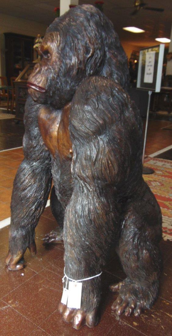Fabulous Life Size Bronze Gorilla Sculpture - 4