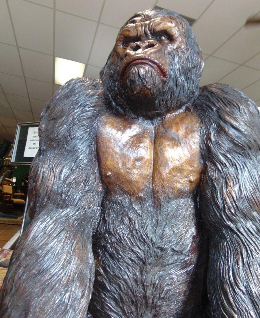 Fabulous Life Size Bronze Gorilla Sculpture - 5
