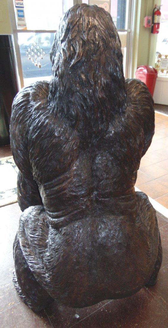 Fabulous Life Size Bronze Gorilla Sculpture - 6