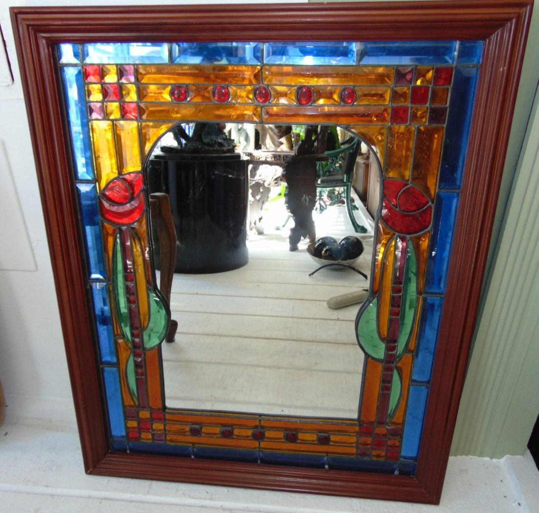 Decorative Stained Glass Wall Mirror