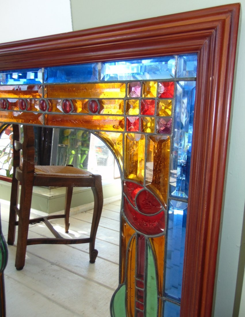 Decorative Stained Glass Wall Mirror - 2