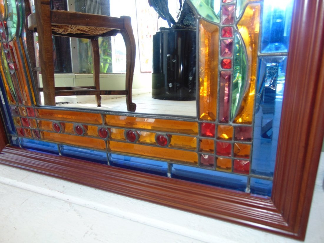 Decorative Stained Glass Wall Mirror - 3