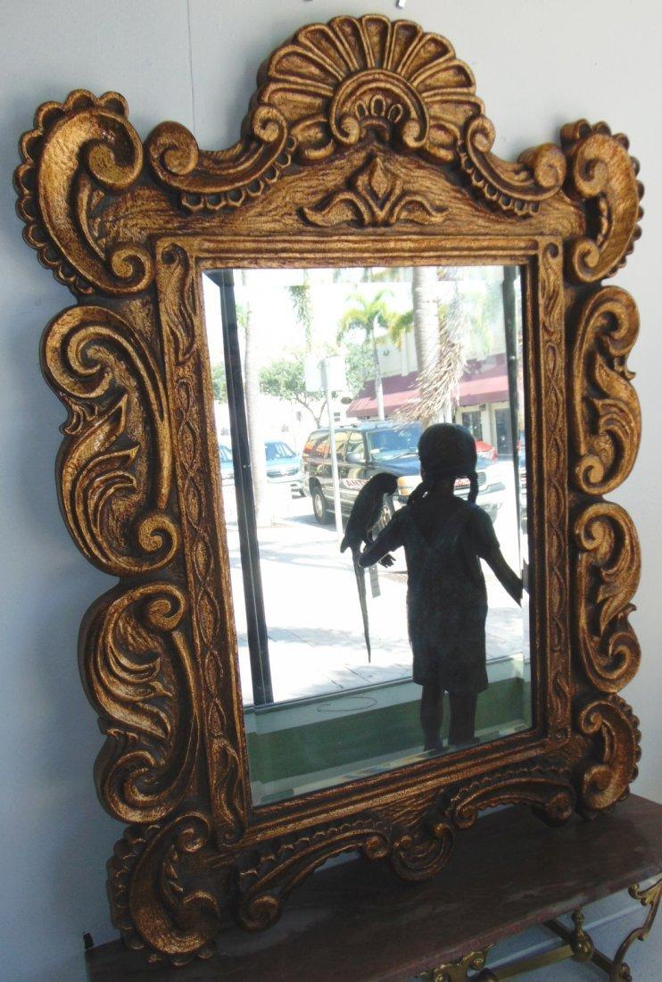Decorators Gold Beveled Mirror