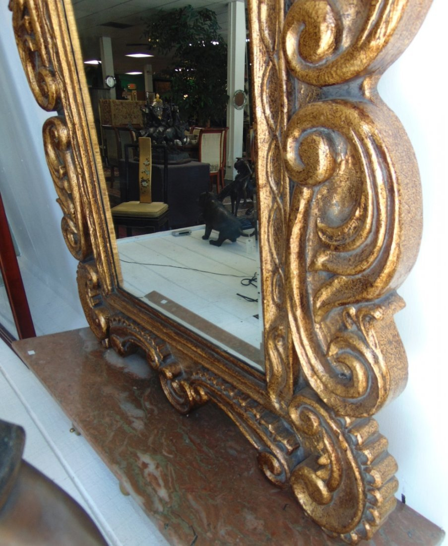 Decorators Gold Beveled Mirror - 3