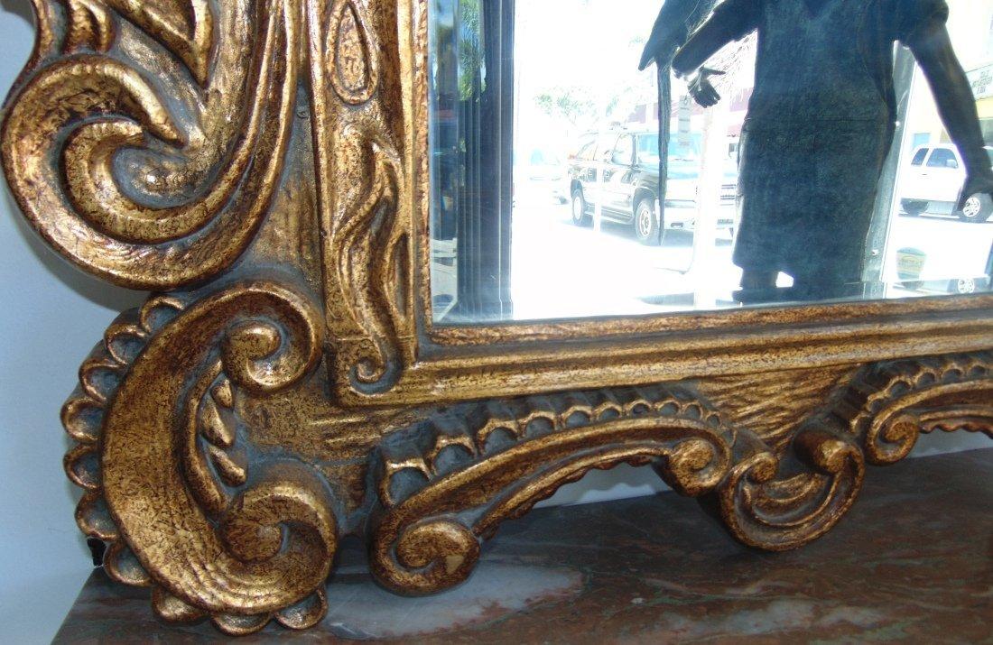 Decorators Gold Beveled Mirror - 4