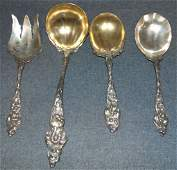 4 Reed  Barton Sterling Les Six Fleurs Serving Piece