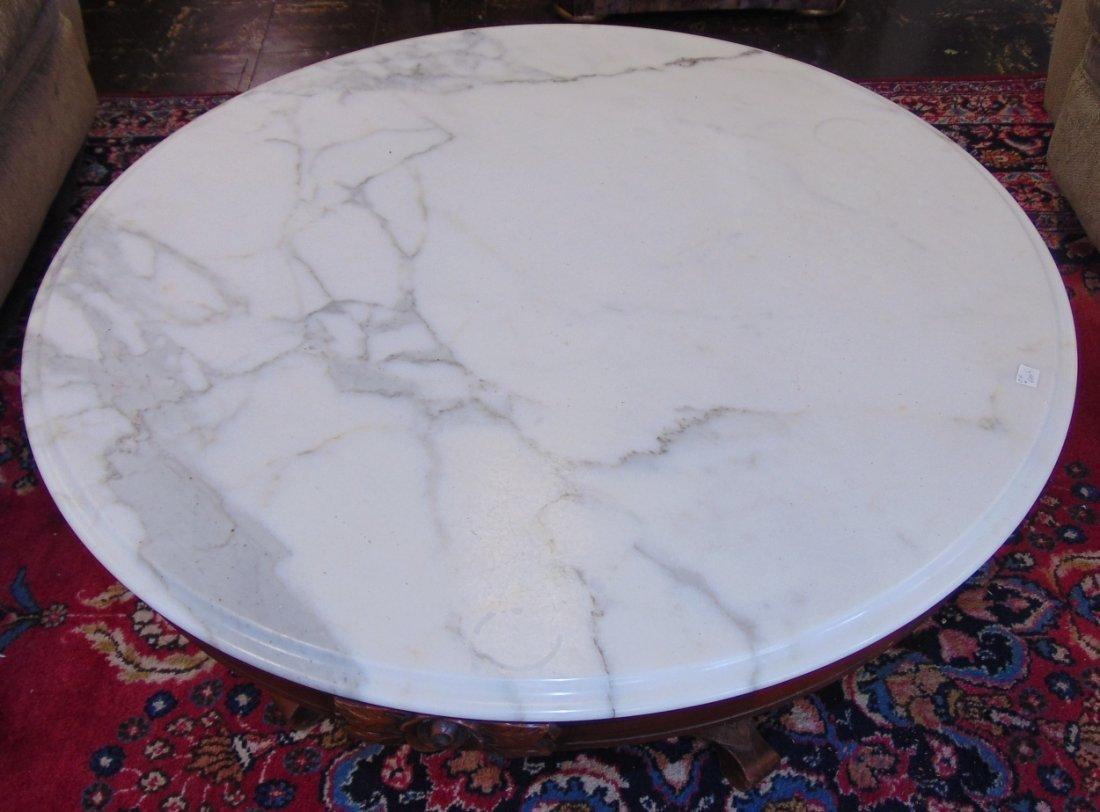 Vintage Mid Century Marble Top Coffee Table