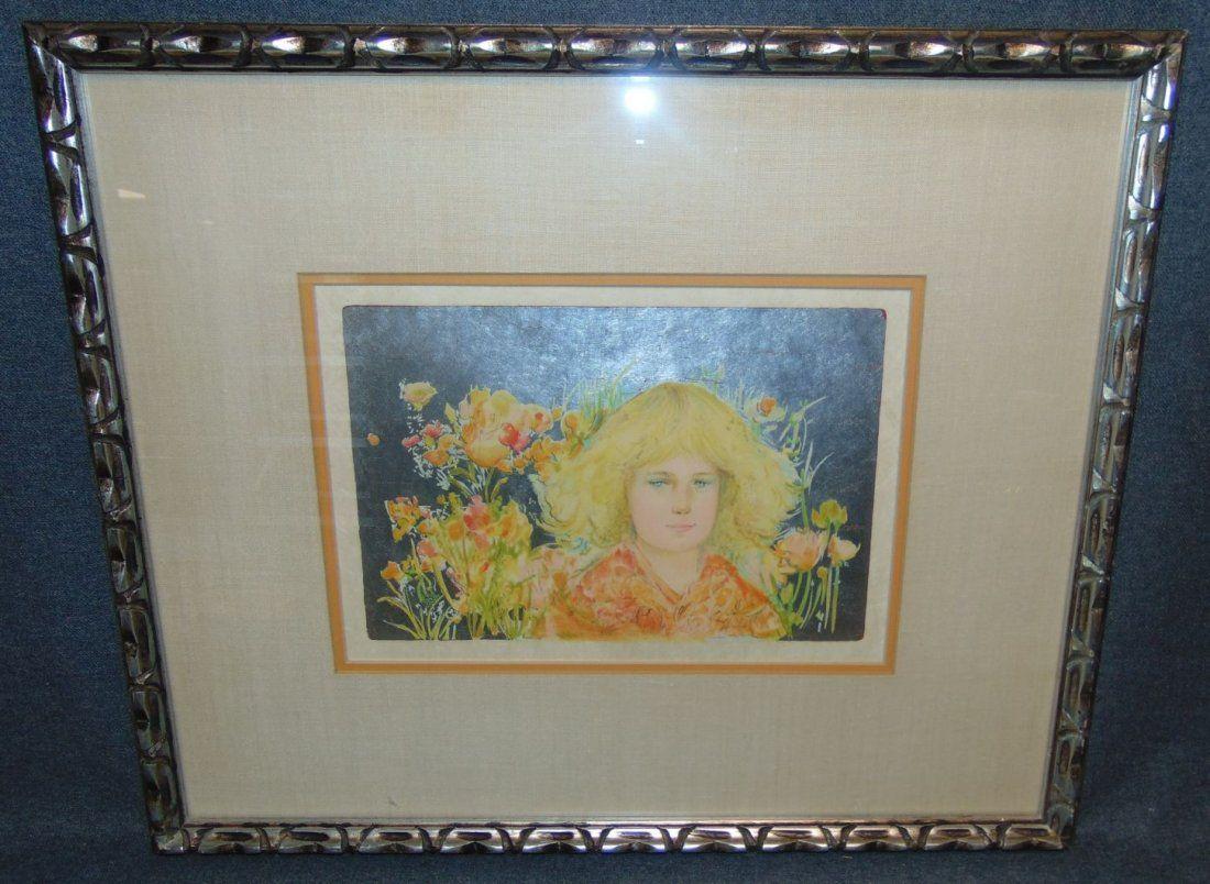Edna Hibel (1917-2014) Signed Lithograph