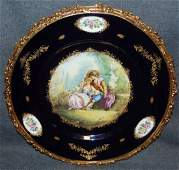 ACF Decor de Sevres Bronze Mounted Porcelain Charger