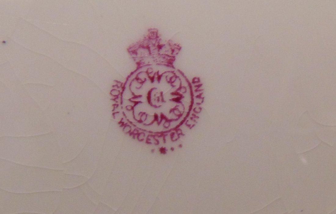 Antique Royal Worcester Porcelain Service Plate Charger - 7