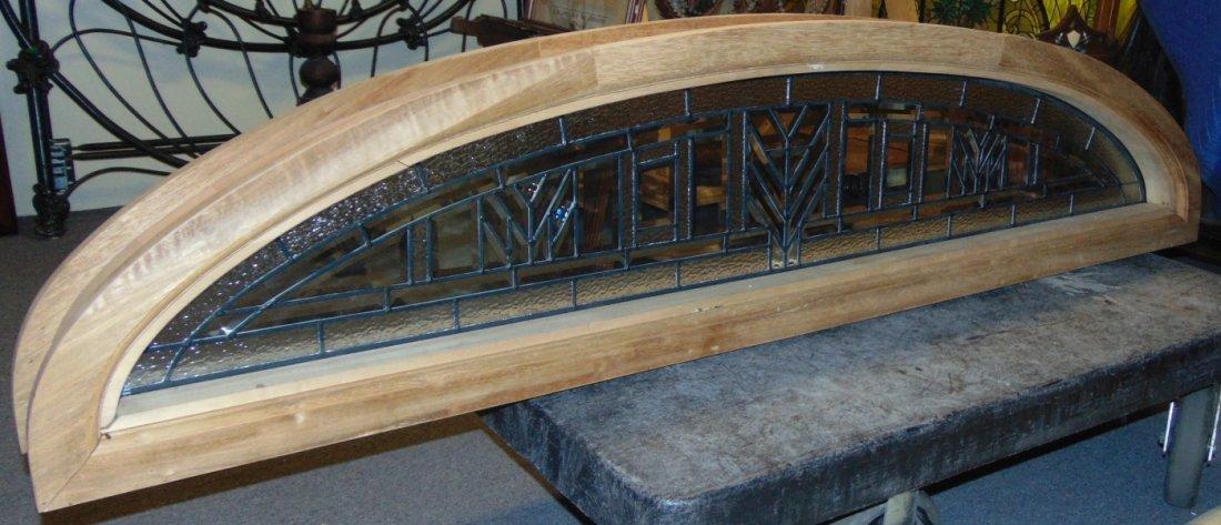 Mahogany and Leaded Glass Window Transom - 2