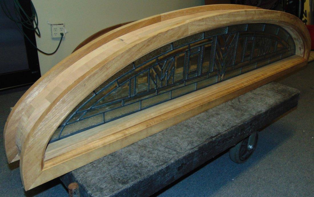 Mahogany and Leaded Glass Window Transom - 4