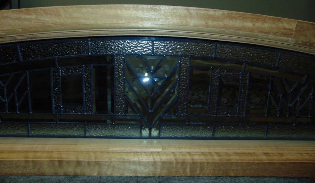 Mahogany and Leaded Glass Window Transom - 6