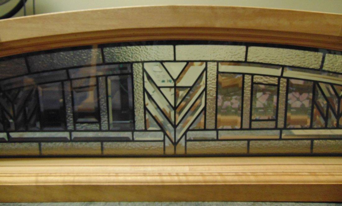 Mahogany and Leaded Glass Window Transom - 7