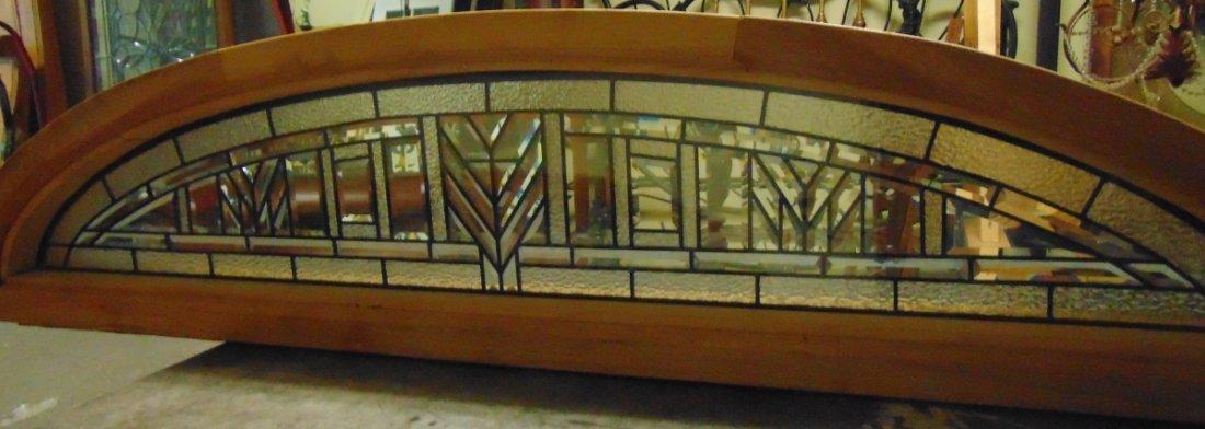 Mahogany and Leaded Glass Window Transom - 8