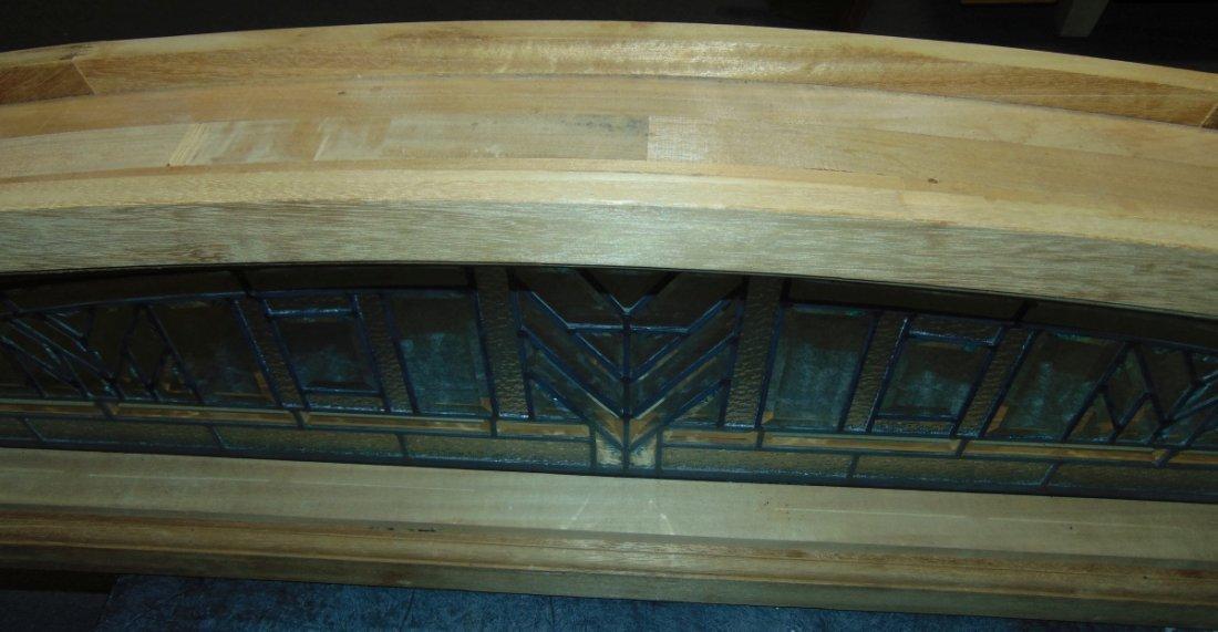 Mahogany and Leaded Glass Window Transom - 9