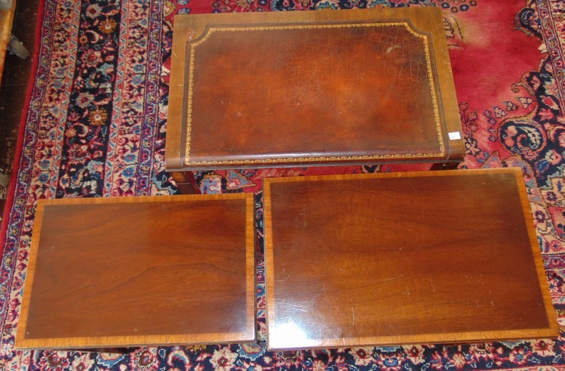 Vintage Set of 3 Inlaid Mahogany Stack Tables - 6