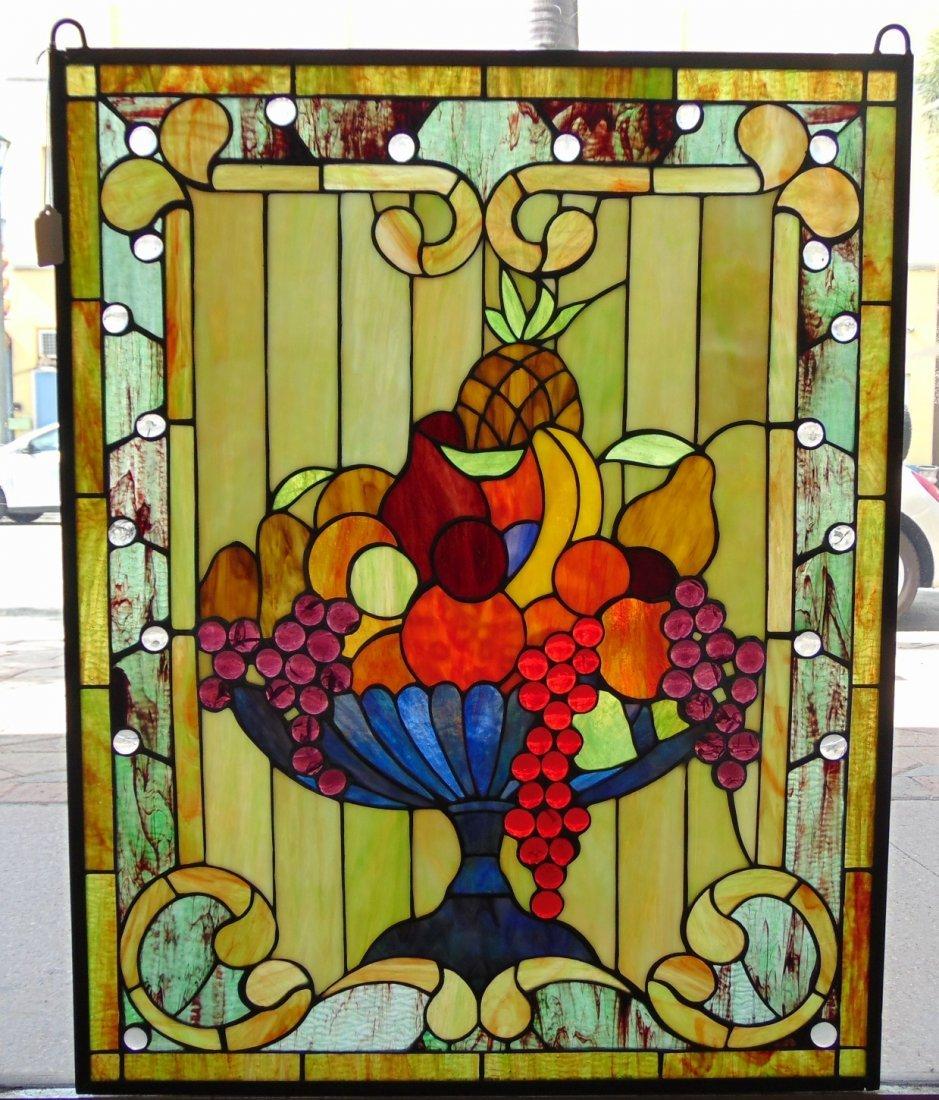 Custom Stained Glass Hanging Window Panel