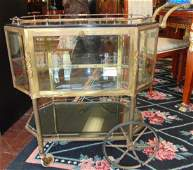 Antique French Octogonal Glass Tea Cocktail Cart