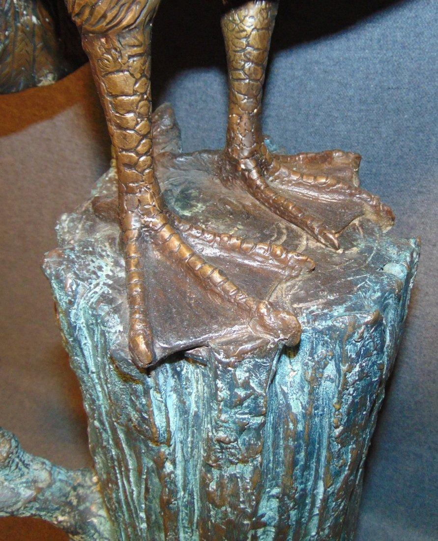 Bronze Pelican Fountain Sculpture - 7