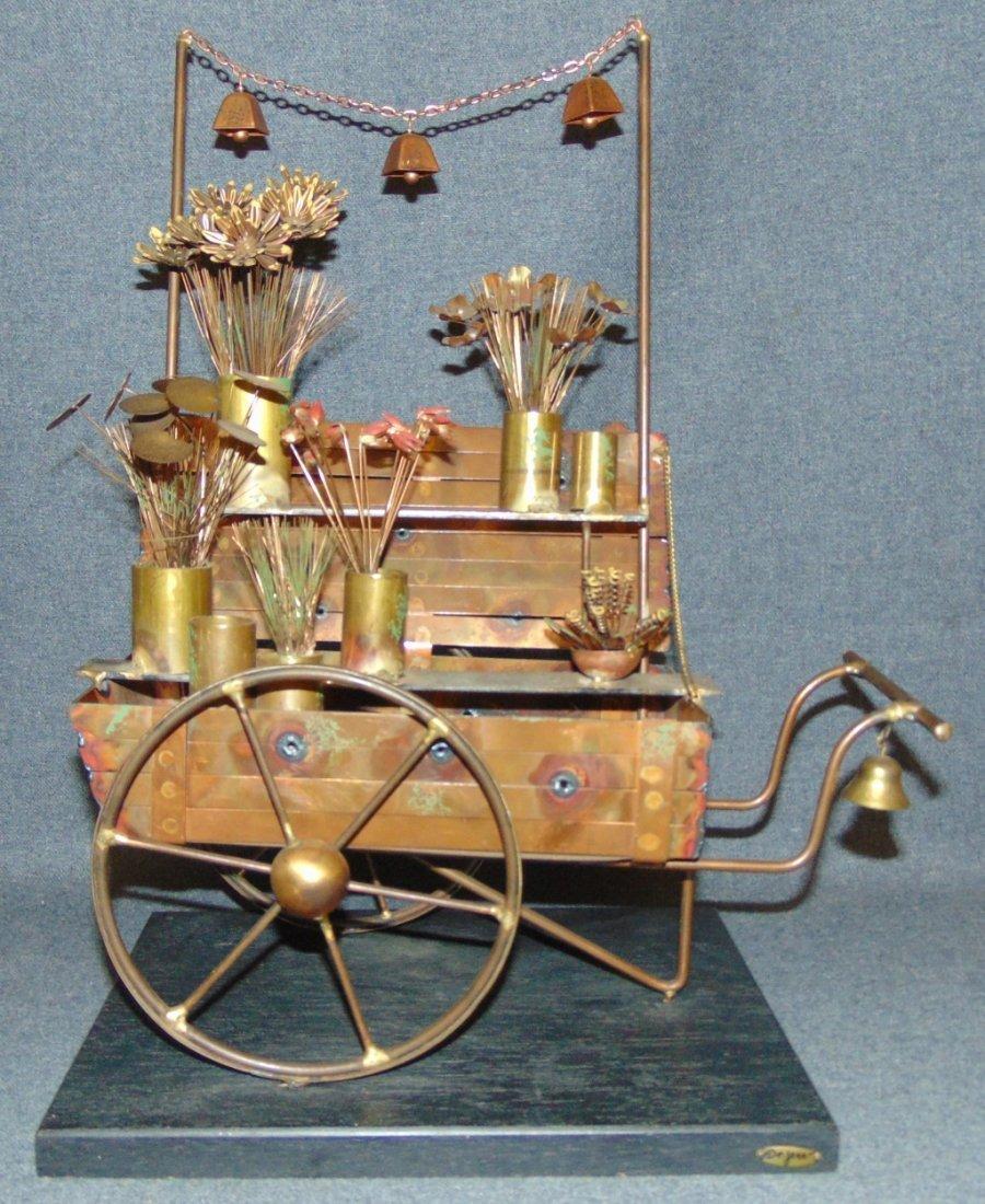 Curtis Jere Flower Cart Sculpture - 2